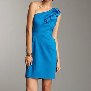 Trina Turk Sheila Solid Ponte Dress Azure Blue 8